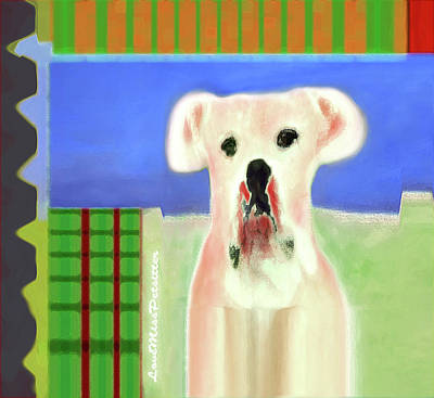 Digital Art - Bulldog Rana Art 65 by Miss Pet Sitter