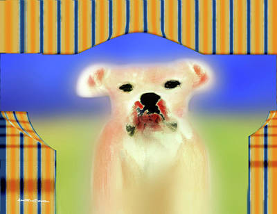 Digital Art - Bulldog Rana Art 72 by Miss Pet Sitter