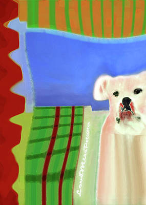 Digital Art - Bulldog Rana Art 74 by Miss Pet Sitter