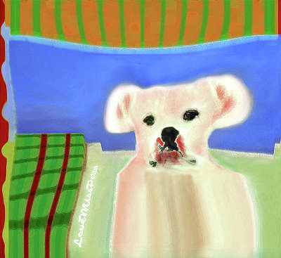 Digital Art - Bulldog Rana Art 75 by Miss Pet Sitter