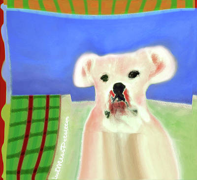 Digital Art - Bulldog Rana Art 76 by Miss Pet Sitter