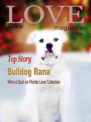 Digital Art - Bulldog Rana Poster 4 by Miss Pet Sitter