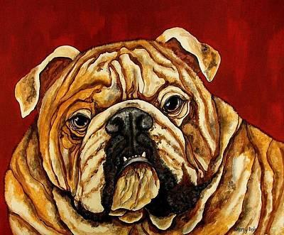 Bulldog Art Print by Sherry Dole