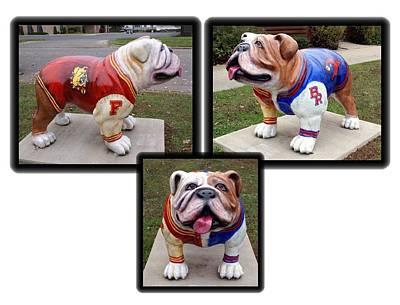 Edward Hopper - Bulldog Statues by Holly Eads