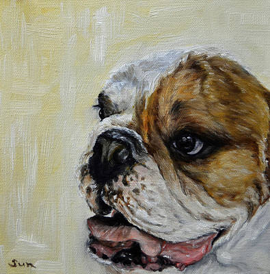 Bulldog  Art Print by Sun Sohovich