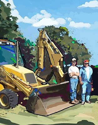 Bulldozer Guys Art Print by Brad Burns