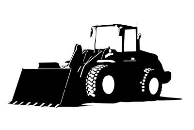 Heavy Equipment Digital Art - Bulldozer by Kayleigh Semeniuk