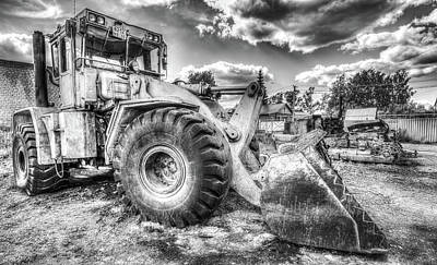 Photograph - Bulldozer Machine From Earth by John Williams