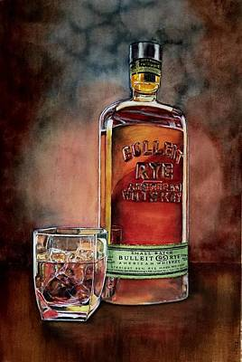Painting - Bulleit by Don Whitson