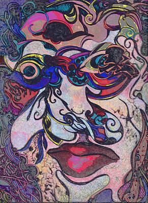 Bullet Hole Face Art Print by Jessica Morgan