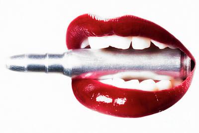 Bite Photograph - Bullet Lips by Erik Brede
