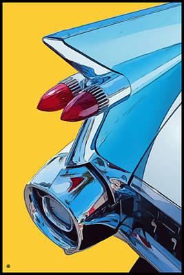 Digital Art - Bullet Taillights by Gary Grayson
