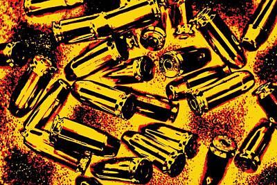 Glock Mixed Media - Bullets And Gunpowder by Dan Sproul