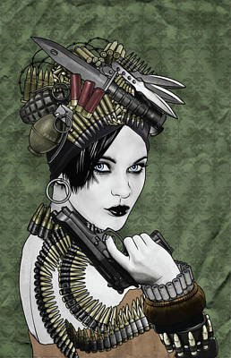Digital Art - Bullets Is My Business by Jason Casteel