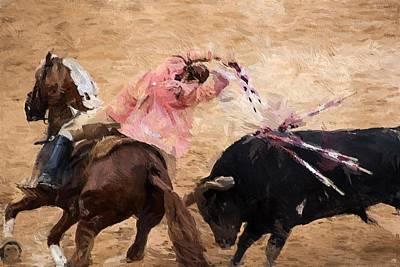 Bullfight Digital Art - Bullfight by Rui Pinto