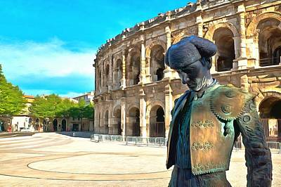 Bull Fighter Photograph - Bullfighter Of Arenes De Nimes by Scott Carruthers