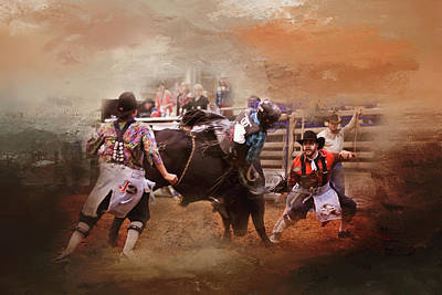 Photograph - Bullfighters In Action by Toni Hopper
