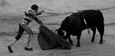 Photograph - Bullfighting 16b by Andrew Fare