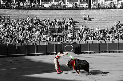 Photograph - Bullfighting 18c by Andrew Fare