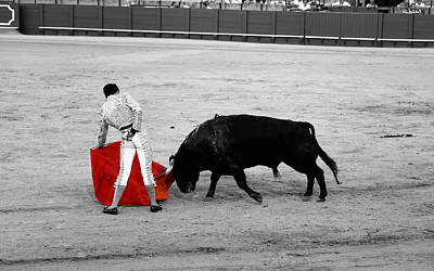 Photograph - Bullfighting 20c by Andrew Fare