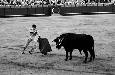 Photograph - Bullfighting 22b by Andrew Fare