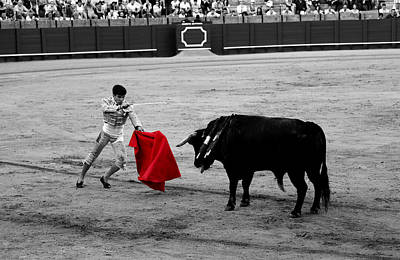 Photograph - Bullfighting 22c by Andrew Fare