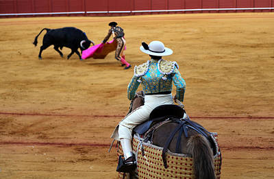 Photograph - Bullfighting 37 by Andrew Fare