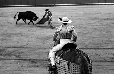 Photograph - Bullfighting 37b by Andrew Fare