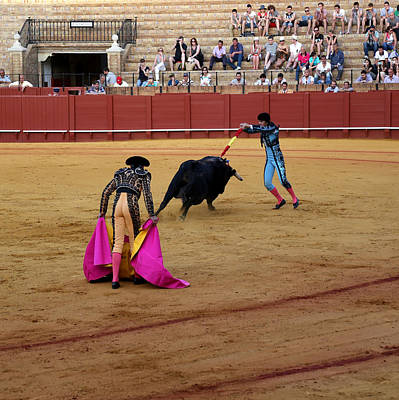 Photograph - Bullfighting 38 by Andrew Fare
