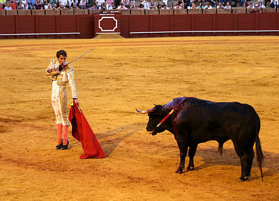 Photograph - Bullfighting 39 by Andrew Fare