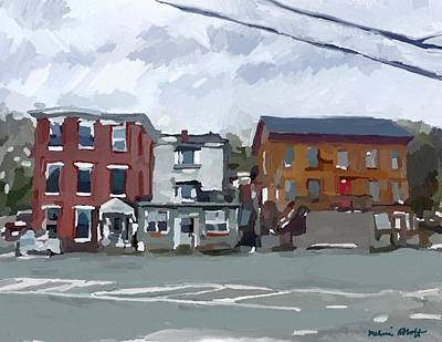Painting - Bullfinch House And Zeke's, East Main St. by Melissa Abbott