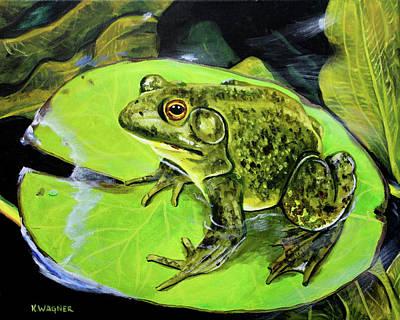Painting - Bullfrog by Karl Wagner