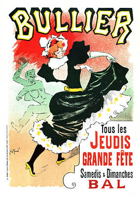Mixed Media - Bullier - Jeudis Grande Fete - Exposition - Vintage Advertising Poster by Studio Grafiikka