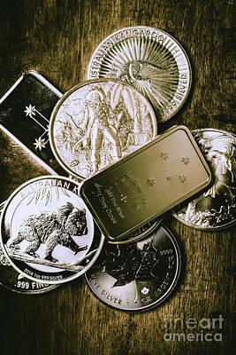 Coin Wall Art - Photograph - Bullion Wealth Stockpile by Jorgo Photography - Wall Art Gallery