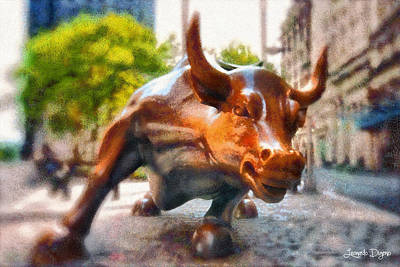 Markets Painting - Bullish - Pa by Leonardo Digenio