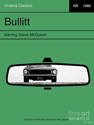 Bullitt, Steve Mcqueen, Minimalist Movie Poster Art Print by Thomas Pollart
