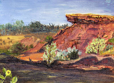 Painting - Bullock Reservoir by Nila Jane Autry