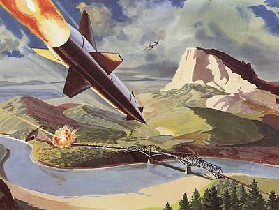Launch Painting - Bullpup Air To Surface Missile by American School