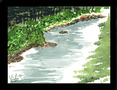 Painting - Bullriver Run by Victor Vosen