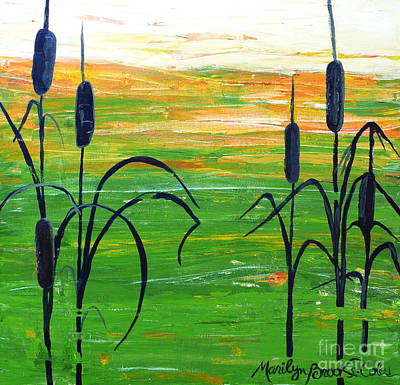 Painting - Bullrushes by Marilyn Brooks