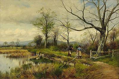 Bates Painting - Bullrushes Spring by MotionAge Designs