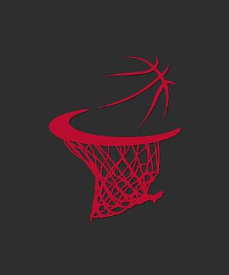 Bulls Basketball Hoop Art Print by Joe Hamilton