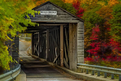 Photograph - Bulls Covered Bridge by Susan Candelario
