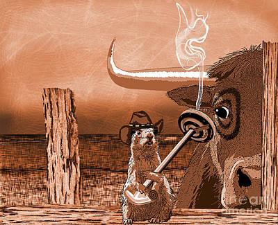 Cattle Dog Digital Art - Bull's Eye by Laura Brightwood