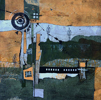 Green Mixed Media - Bulls Eye by Laura  Lein-Svencner