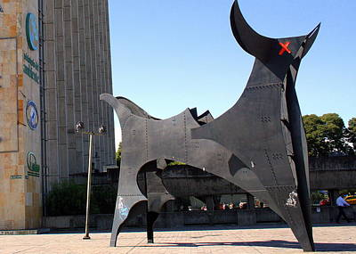 Photograph - Bull's Eye Sculpture In Quito by Laurel Talabere