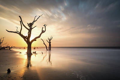 Long Exposure Photograph - Bulls Island Sunrise by Ivo Kerssemakers