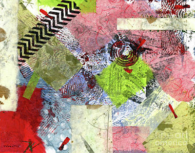Mixed Media - Bullseye by Diane Thornton