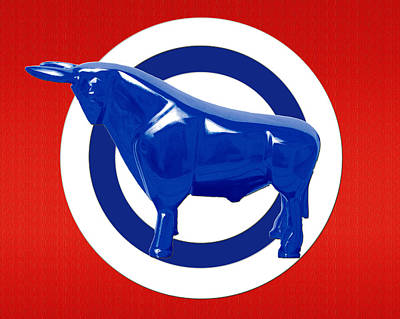 Contemporary Abstract Digital Art - Bullseye by Slade Roberts