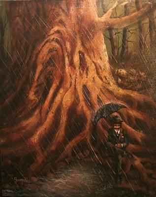 Leprechaun Painting - Bumbershoot by Tom Shropshire